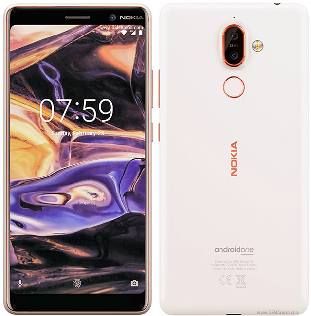 Nokia 7 Plus (64GB, Dual Sim, White Copper, Special Import)