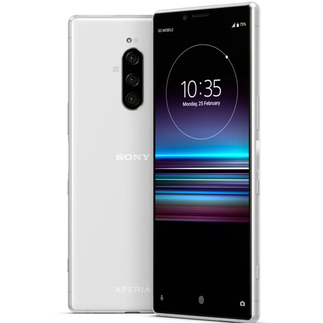 Sony Xperia 1 (128GB, Dual Sim, White, Special Import)-Smartphones (New)-Connected Devices