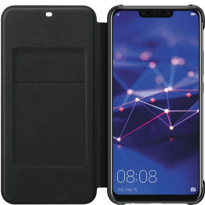 Official Huawei Mate 20 Lite Wallet Cover Case (Black, Special Import)-Accessories - Smartphones - Cases-Connected Devices