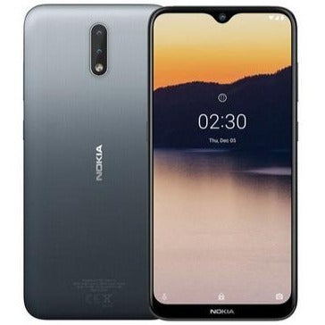 Nokia 2.3 (32GB, Dual Sim, Charcoal, Special Import)-Smartphones (New)-Connected Devices