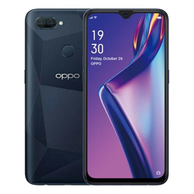 Oppo A12 (64GB, 4GB RAM, Dual Sim, Black, Special Import)-Smartphones (New)-Connected Devices