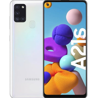 Samsung Galaxy A21s (32GB, Dual Sim, White, Special Import)-Smartphones (New)-Connected Devices