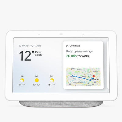 Google Nest Hub (Chalk, Special Import)-Connected Home - Speakers-Connected Devices