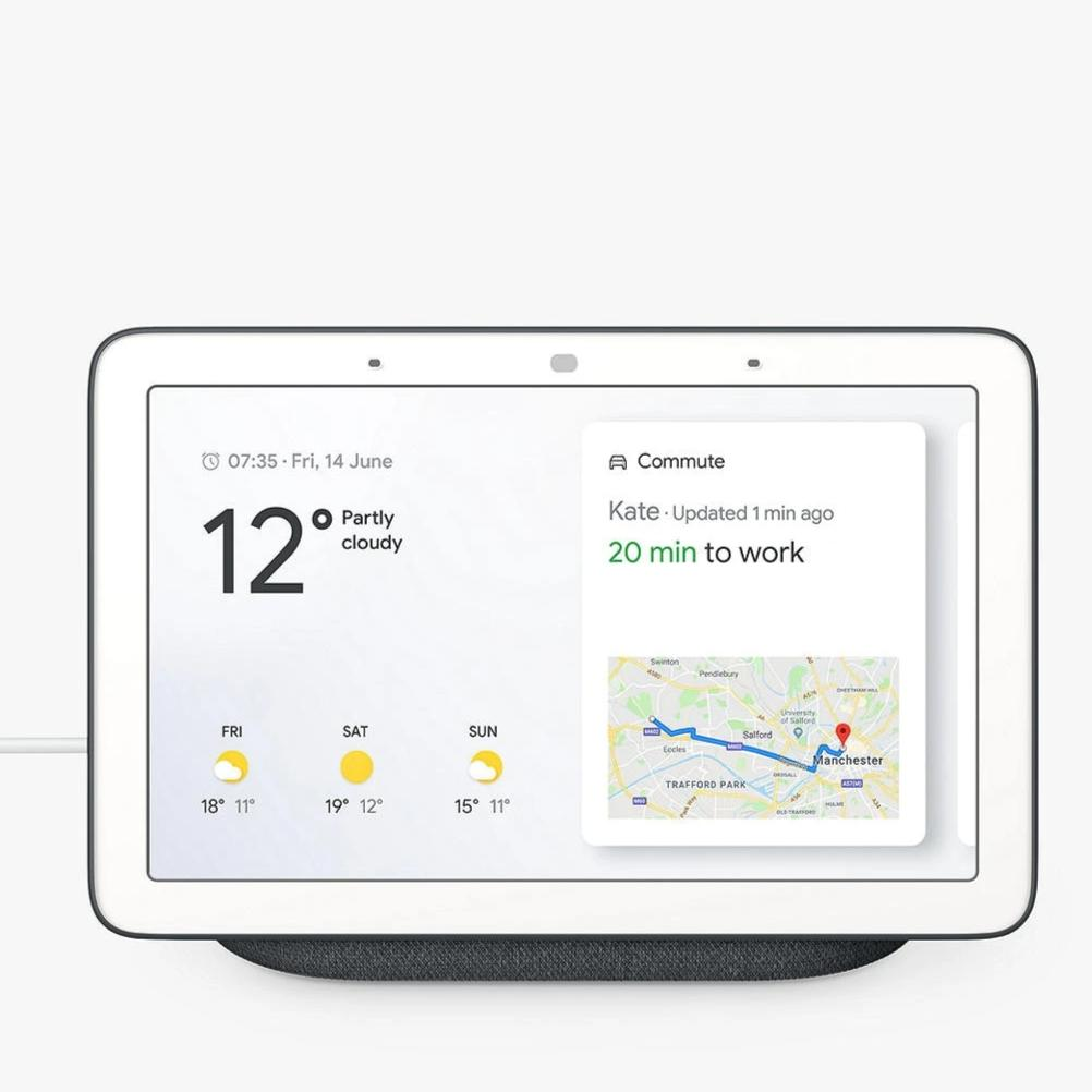 Google Nest Hub (Charcoal, Special Import)-Connected Home - Speakers-Connected Devices