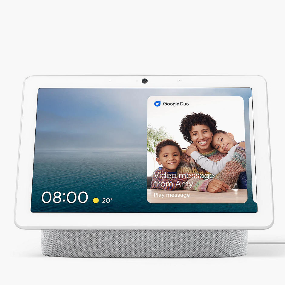 Google Nest Hub Max (Chalk, Special Import)-Connected Home - Speakers-Connected Devices