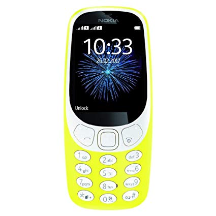 Nokia 3310 (2017, 64MB, Single Sim, Yellow, Special Import)-Smartphones (New)-Connected Devices
