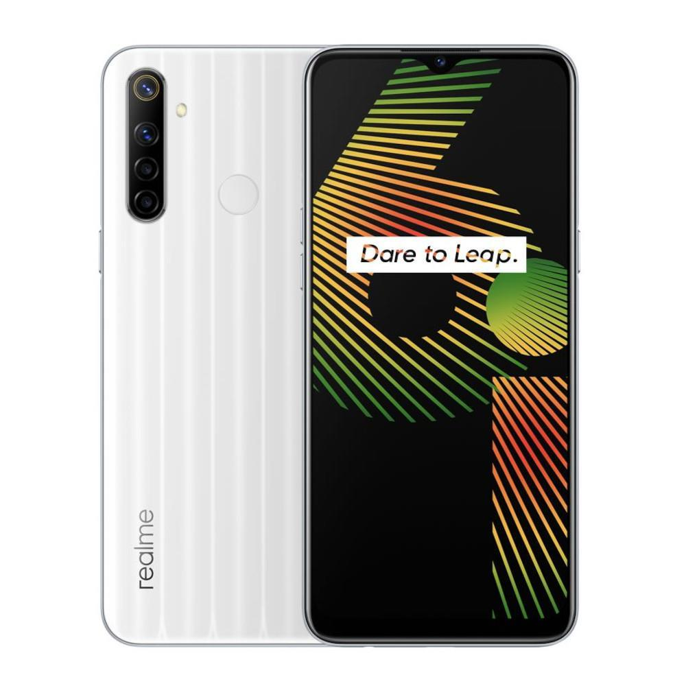 Realme 6i (128GB, 4GB, Dual Sim, White, Special Import)-Smartphones (New)-Connected Devices