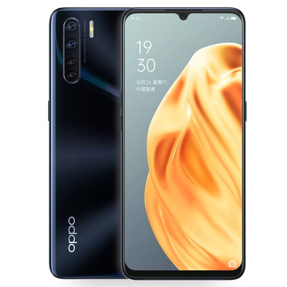 Oppo A91 (128GB, 8GB Ram, Dual Sim, Black, Special Import)-Smartphones (New)-Connected Devices