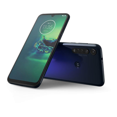 Motorola Moto G8 Plus (64GB, Dual Sim, Blue, Special Import)-Smartphones (New)-Connected Devices