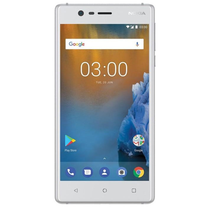 Nokia 3 (Pre-Owned, 16GB/2GB, Silver White, Single Sim, Local Stock)-Smartphones (Open Box)-Connected Devices