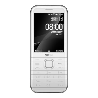 Nokia 8000 4G (4GB, 512MB, Single Sim, White, Special Import)-Smartphones (New)-Connected Devices