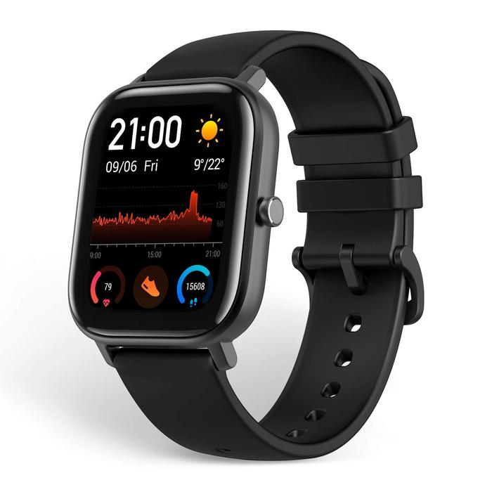 Xiaomi Amazfit GTS (Black, Bluetooth Special Import)-Wearables (New)-Connected Devices