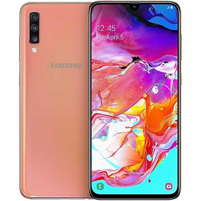 Samsung Galaxy A70 (128GB, Dual Sim, Coral, Special Import)-Smartphones (New)-Connected Devices