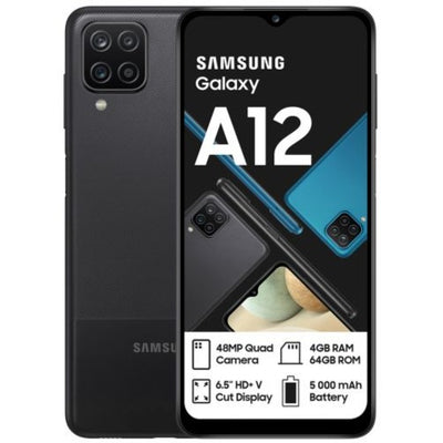 Samsung Galaxy A12 (64GB, Dual Sim, Black, Special Import)-Smartphones (New)-Connected Devices