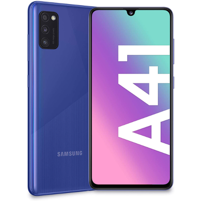 Samsung Galaxy A41 (64G, 4GB RAM, Dual Sim, Blue, Special Import)-Smartphones (New)-Connected Devices