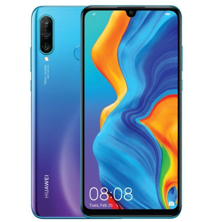 Huawei P30 Lite New Edition (256GB, 6GB, Dual Sim, Breathing Crystal, Special Import)-Smartphones (New)-Connected Devices