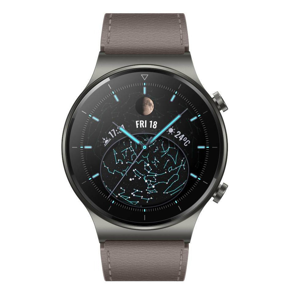 Huawei Watch GT 2 Pro Classic (Bluetooth, 46mm, Leather Grey, Special Import)