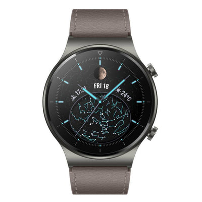 Huawei Watch GT 2 Pro Classic (Bluetooth, 46mm, Leather Grey, Special Import)-Wearables (New)-Connected Devices