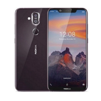 Nokia 8.1 (64GB, Dual Sim, Iron Purple, Special Import)-Smartphones (New)-Connected Devices