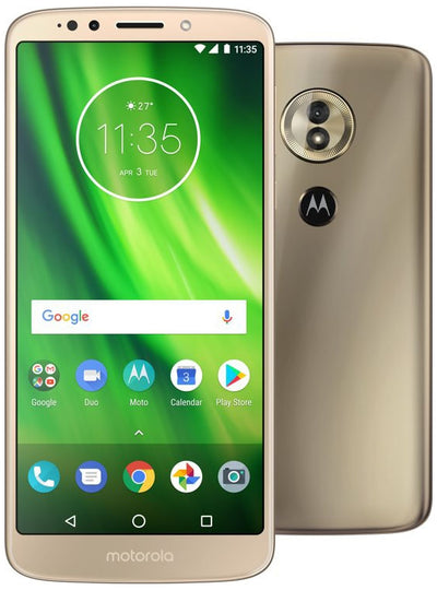 Motorola Moto G6 Play (32GB, Dual Sim, Gold, Special Import)-Smartphones (New)-Connected Devices
