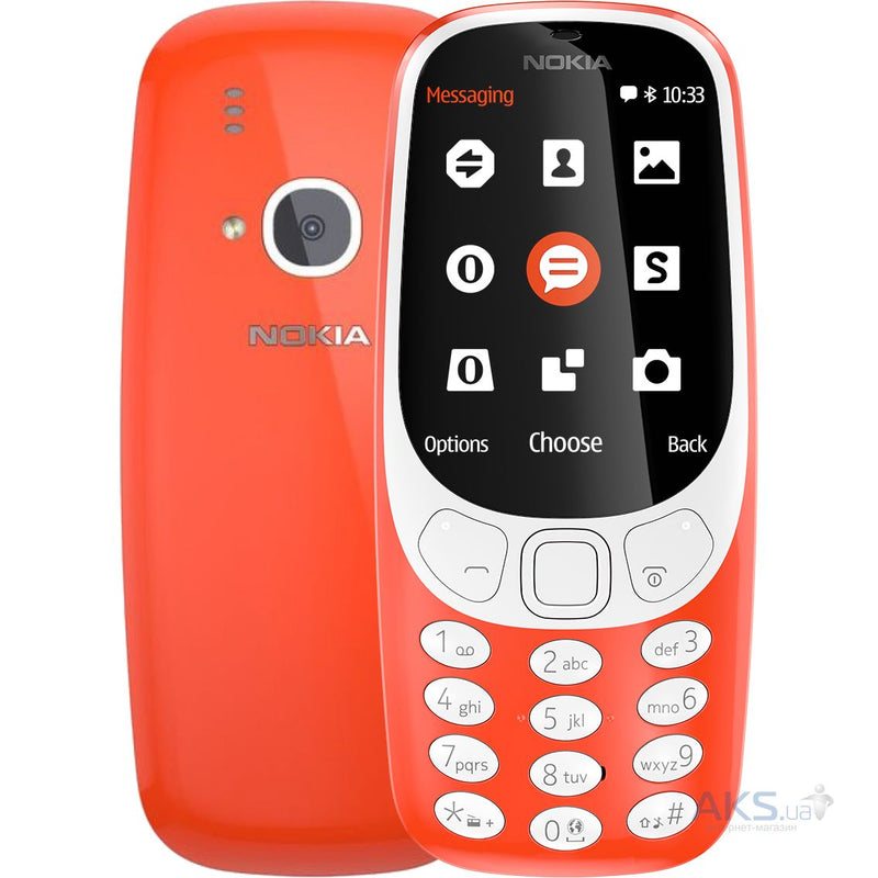 Nokia 3310 (2017, 64MB, Single Sim, Red, Special Import)-Smartphones (New)-Connected Devices