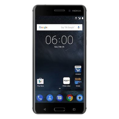 Nokia 6 (2017 32GB/3GB RAM, Single Sim, Black, Local Stock)-Smartphones (New)-Connected Devices