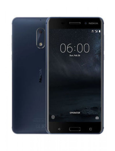 Nokia 6 (Dual Sim, 32GB, Tempered Blue, Special Import)-Smartphones (New)-Connected Devices