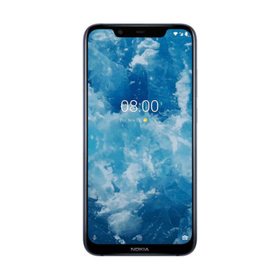 Nokia 8.1 (64GB, Dual Sim, Blue Silver, Special Import)-Smartphones (New)-Connected Devices