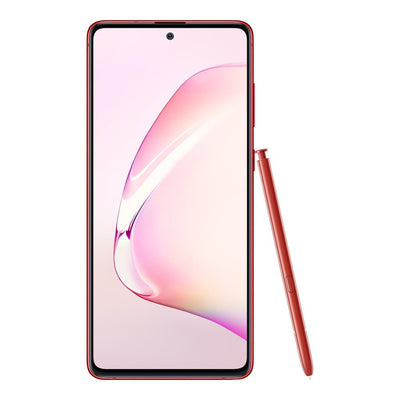 Samsung Galaxy Note 10 Lite (Dual Sim, 128GB, Red, Special Import)-Smartphones (New)-Connected Devices