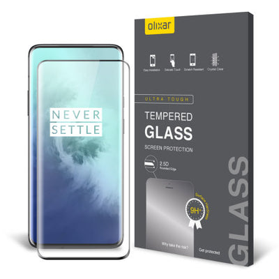 Olixar OnePlus 7T Pro Full Cover Glass Screen Protector (Special Import)-Accessories - Smartphones - Cases-Connected Devices