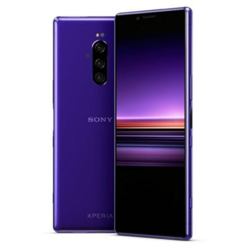 Sony Xperia 1 (128GB, Dual Sim, Purple, Special Import)-Smartphones (New)-Connected Devices