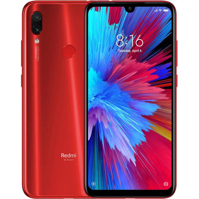 Xiaomi Redmi Note 7 (128GB, Dual Sim, Red, Special Import)-Smartphones (New)-Connected Devices