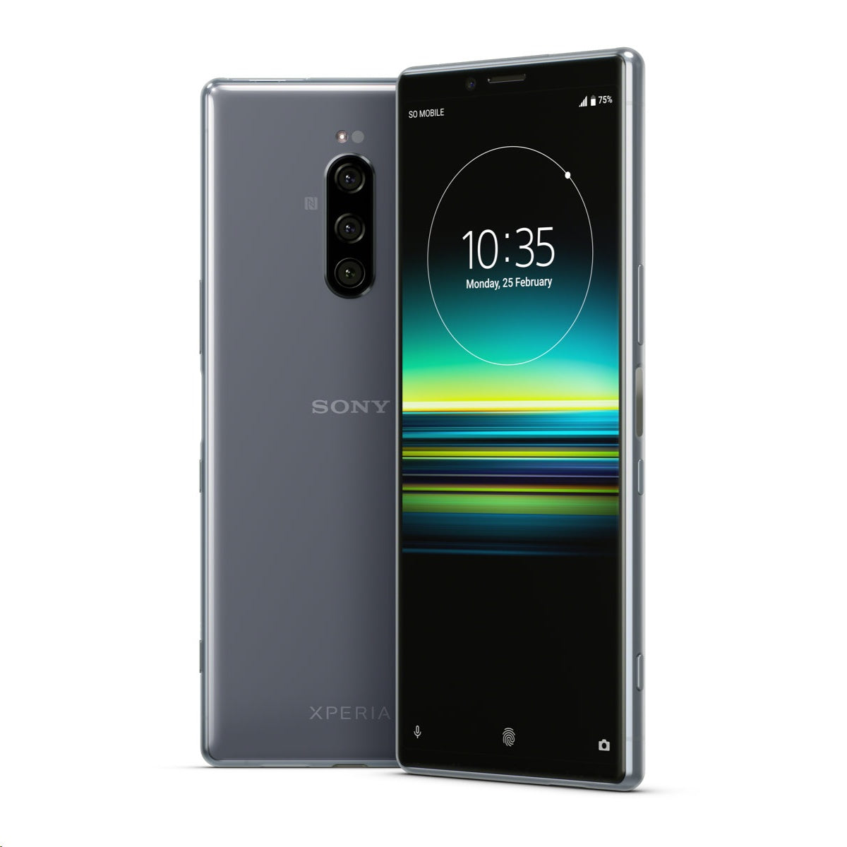 Sony Xperia 1 (128GB, Dual Sim, Gey, Special Import)-Smartphones (New)-Connected Devices