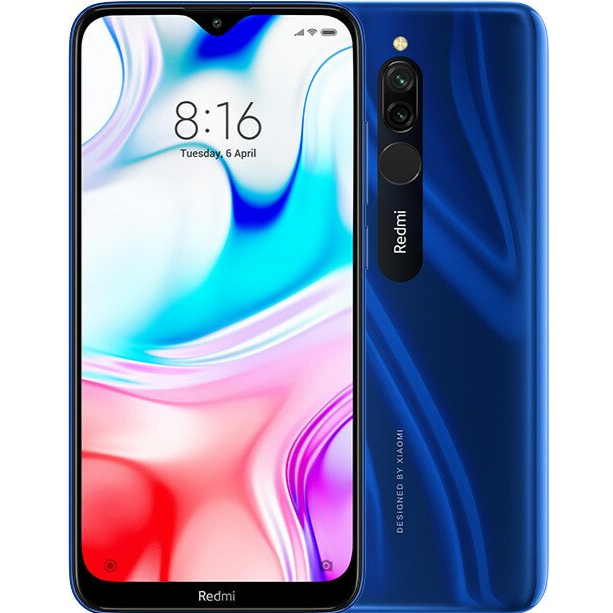 Xiaomi Redmi 8 (64GB, Dual Sim, Blue, Special Import)-Smartphones (New)-Connected Devices