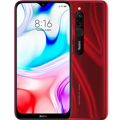 Xiaomi Redmi 8 (32GB, Dual Sim, Red, Special Import)-Smartphones (New)-Connected Devices