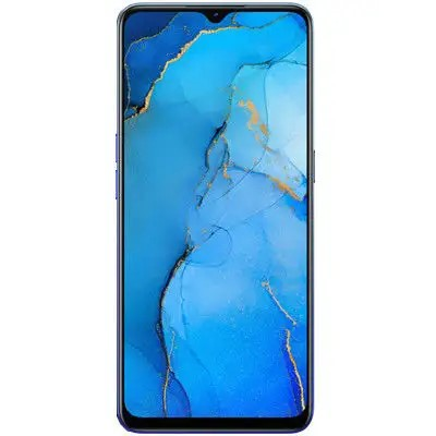 Oppo Reno 3 (128GB, 8GB Ram, Dual Sim, Blue, Special Import)-Smartphones (New)-Connected Devices
