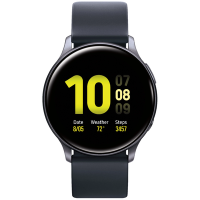 Samsung Galaxy Watch Active2 (WiFi, 4GB, 44mm, Aluminium, Black, Special Import)-Wearables (New)-Connected Devices