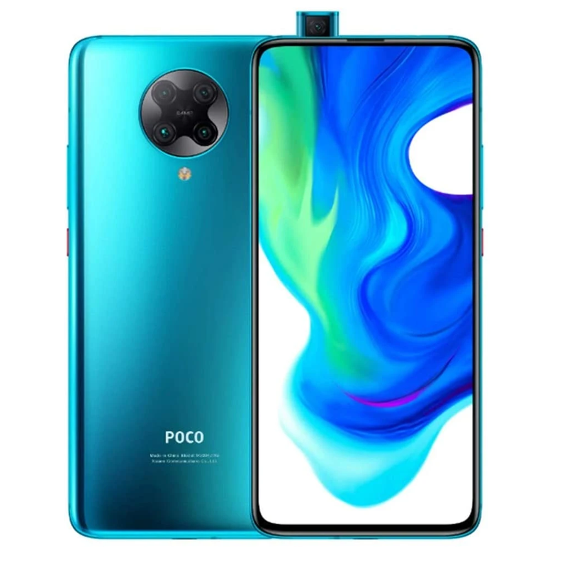 Xiaomi Poco F2 Pro 5G (128GB, Dual Sim, Neon Blue, Special Import)-Smartphones (New)-Connected Devices