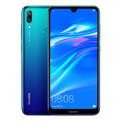 Huawei Y7 2019 (32GB, Dual Sim, Blue, Special Import)-Smartphones (New)-Connected Devices