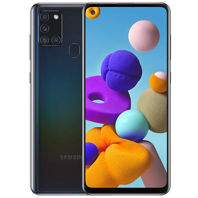 Samsung Galaxy A21s (32GB, Dual Sim, Black, Special Import)-Smartphones (New)-Connected Devices