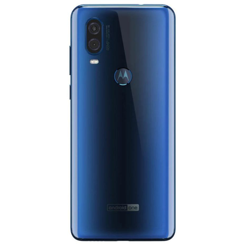 Motorola One Vision (128GB, Dual Sim, Blue, Special Import)-Smartphones (New)-Connected Devices