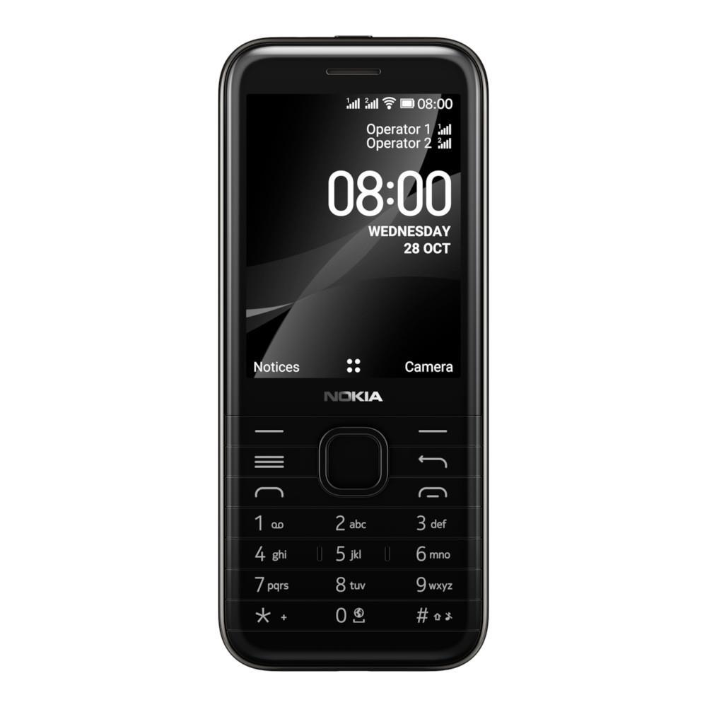 Nokia 8000 4G (4GB, 512MB, Dual Sim, Black, Special Import)-Smartphones (New)-Connected Devices