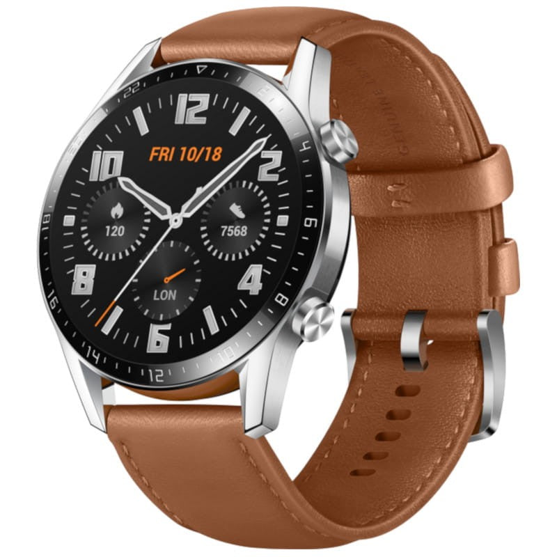 Huawei Watch GT 2 Classic (46mm, Brown Leather, Bluetooth, Special Import)-Wearables (New)-Connected Devices