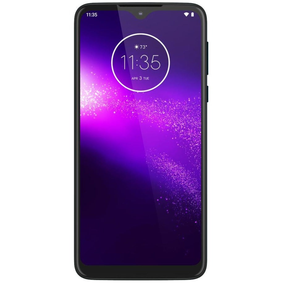 Motorola One Macro (64GB, Dual Sim, Blue, Special Import)-Smartphones (New)-Connected Devices