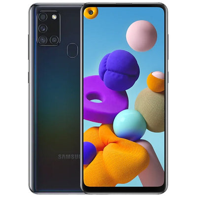 Samsung Galaxy A21s (64GB, Dual Sim, Black, Special Import)-Smartphones (New)-Connected Devices