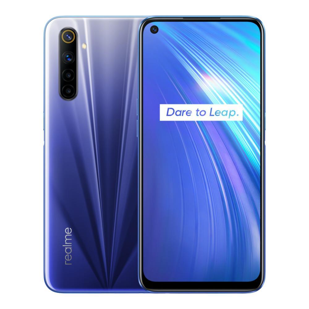 Realme 6 (64GB, 4GB RAM, Dual Sim, Blue, Special Import)-Smartphones (New)-Connected Devices