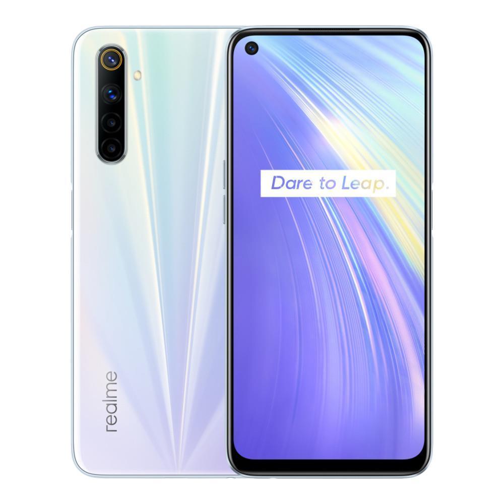 Realme 6 (64GB, 4GB RAM, Dual Sim, White, Special Import)-Smartphones (New)-Connected Devices