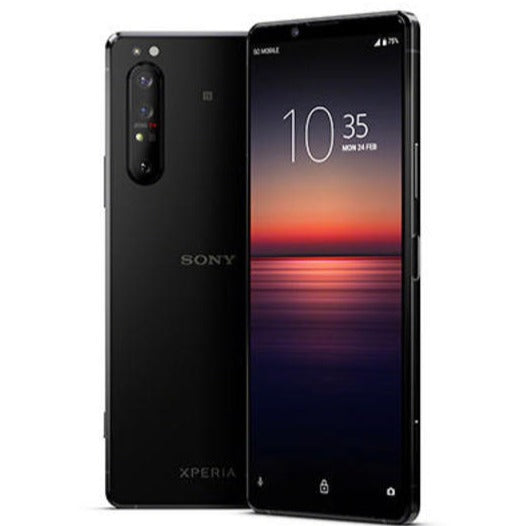 Sony Xperia 1 II 5G (256GB, 8GB RAM, Dual Sim, Black, Special Import)-Smartphones (New)-Connected Devices