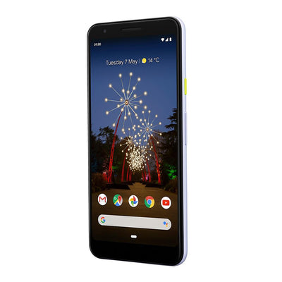 Google Pixel 3a (64GB, Clearly White, Special Import)-Smartphones (New)-Connected Devices