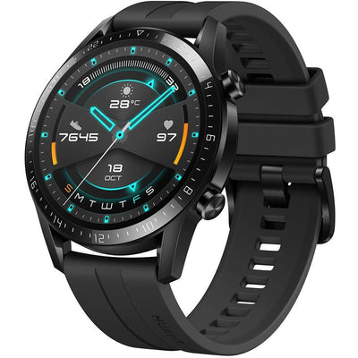 Huawei Watch GT 2 Sport (Pre-Owned, Bluetooth, 46mm, Black, Special Import)-Wearables (Open Box)-Connected Devices